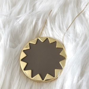 House of Harlow 1960 Leather Sunburst Necklace